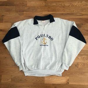 Vintage 90's Poulsbo Washington 1/4 Zip Sweater